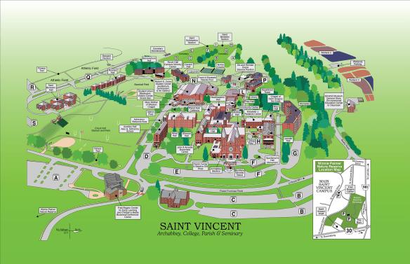 St Anselm Campus Map.Directions Saint Vincent Archabbey Retreats