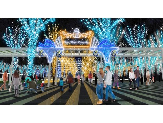 Winter Illumination at Keyaki Hiroba 2017 Blue Flower Dreaming