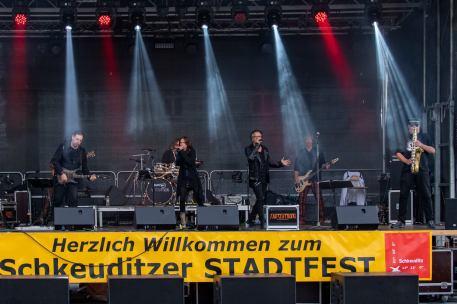 Saitensprung Leipzig auf dem Stadtfest Schkeuditz 2018; Foto: Carsten Dumke
