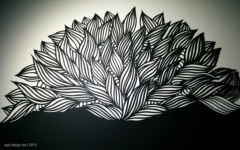Work in Progress: Wandbild Papercut