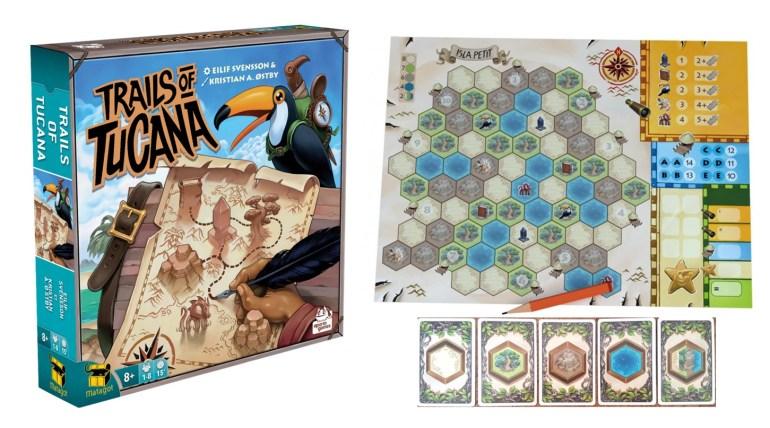 Trails of Tucana, jeu de société édité par Matagot