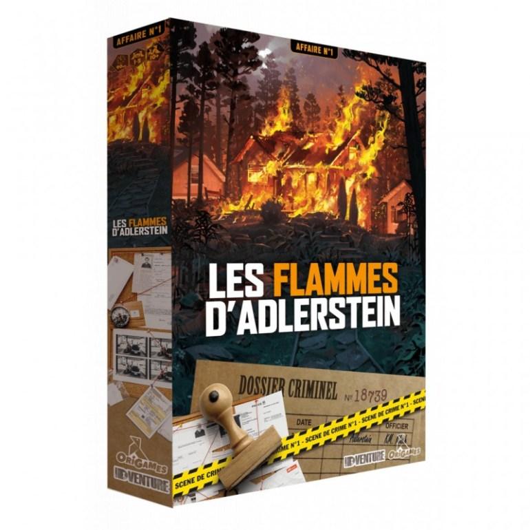 Le jeu de société et d'enquête Les Flammes d'Adlerstein édité par Origames