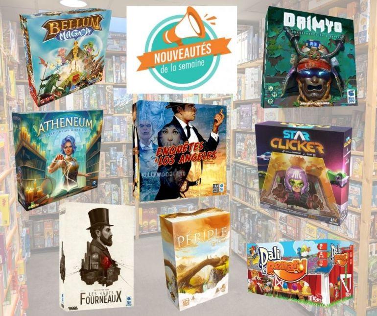 Nouveaux jeux de société arrivés chez Sajou au 06/08/2021