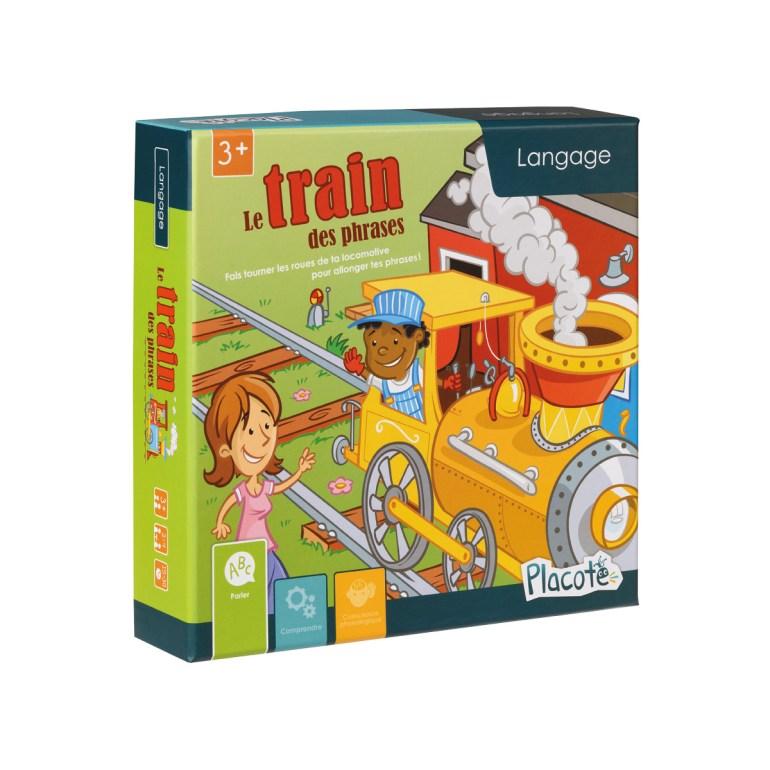 Le jeu Le train des phrases édité par Placote et distribué en Belgique par Géronimo