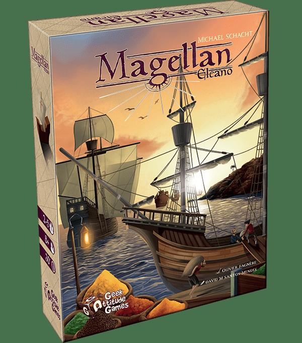 Megellan Elcano, un jeu de cartes édité par Geek Attitude Games.