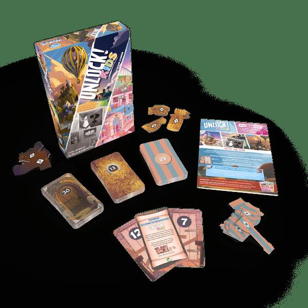 Le jeu de société Unlock version KIds édité par Space Cow