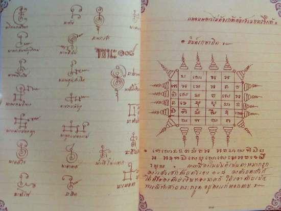 Sak Yant Designs from the Grimoire of Luang Por Guay Wat Kositaram