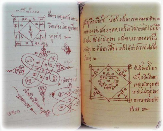 Yant designs of the Grimoire of Luang Por Guay