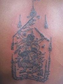Sak Yant Hanuman Dtua Sip - Hanuman no. 10