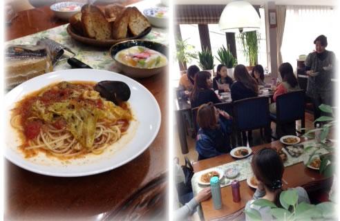4月のSAKAEスタッフ昼食会
