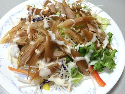 140530鶏ささみ燻製サラダ