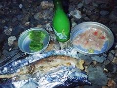 160610横川川刺身と塩焼き