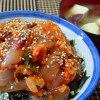 空飛ぶ魚(トビウオキムチ丼)