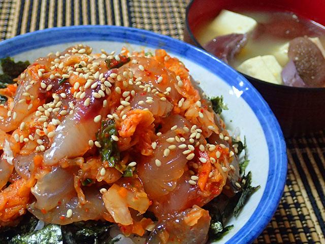 160708トビウオキムチ丼26