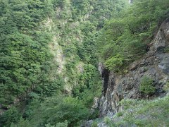 160809三峰川崖