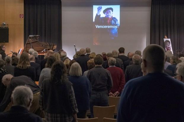 Gedenkfeier Egon Kuhn im Freizeitheim Linden am 10.02.2019
