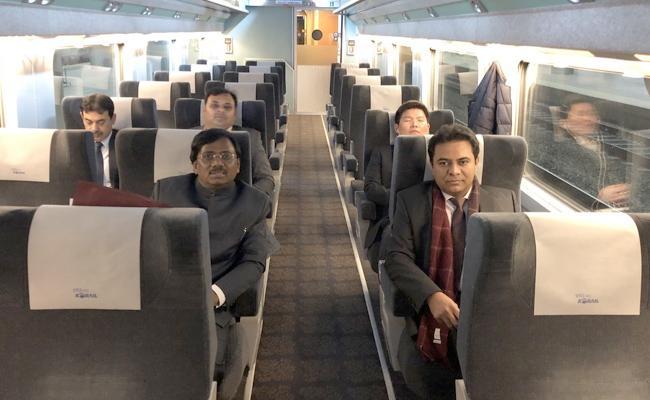 On the high speed KTX train from Seoul to Daegu, tweets ktr - Sakshi