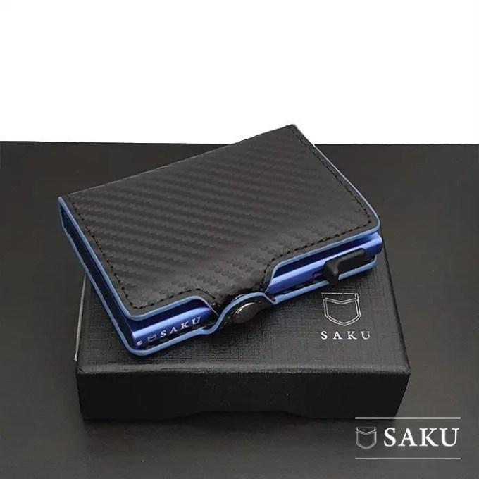 Saku Official - Dompet Kartu Saku Carbon Blue
