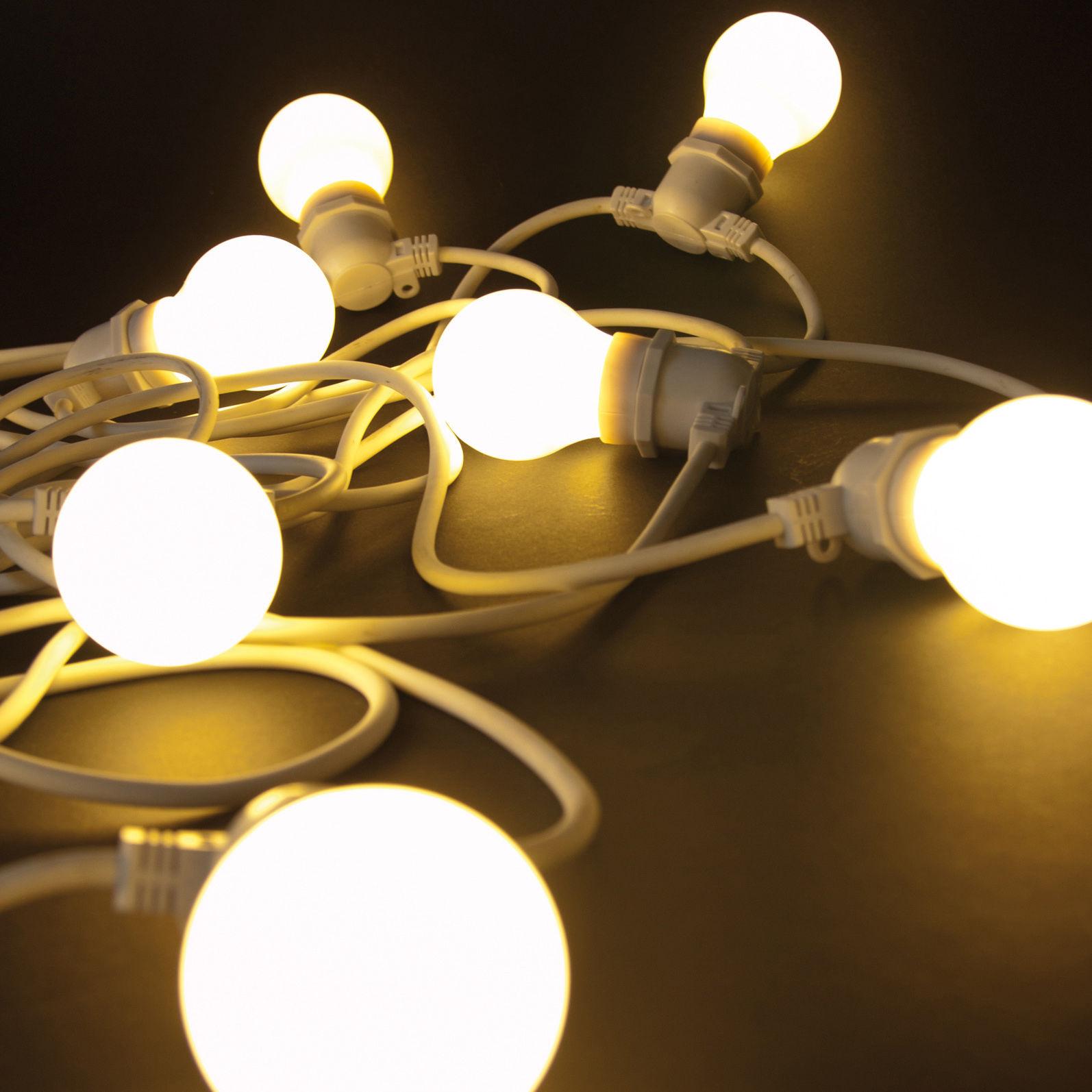 Iegrow 10 Metres Led Impermeabiliser Connectable Chaine De Lumieres 10 E27 Pont Dedison Ampoules Retro Pour Porche Deck Taverne Patio Jardin Fete Exterieur Guirlandes Lumineuses Guirlandes Lumineuses Luminaires Exterieur
