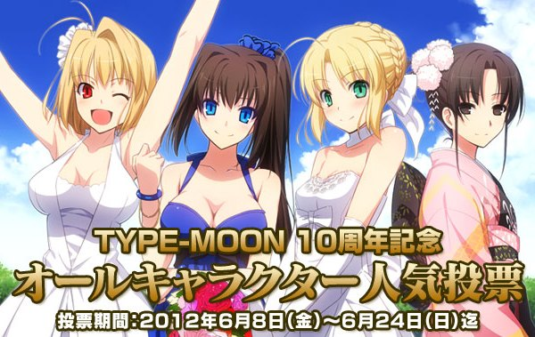 Type-Moon 10th Anniversary Character Poll Image