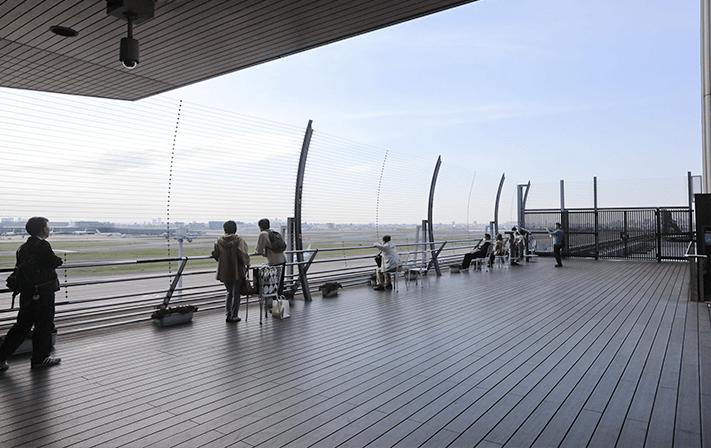 On the observation deck