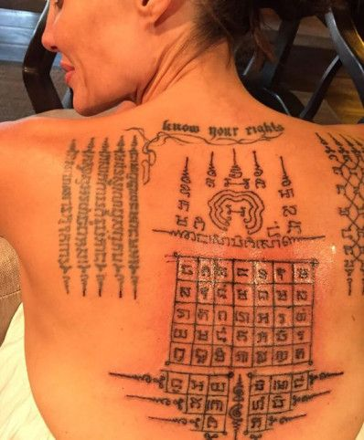 Angelina Jolie Sak Yant Thai Tattoo: What are the Meanings