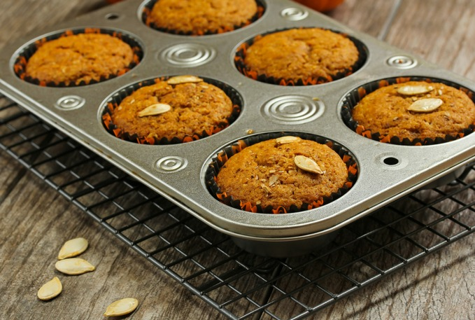 'Tis the season for everything pumpkin so here you go…. healthy and easy Pumpkin Trail Mix Muffins! #recipe
