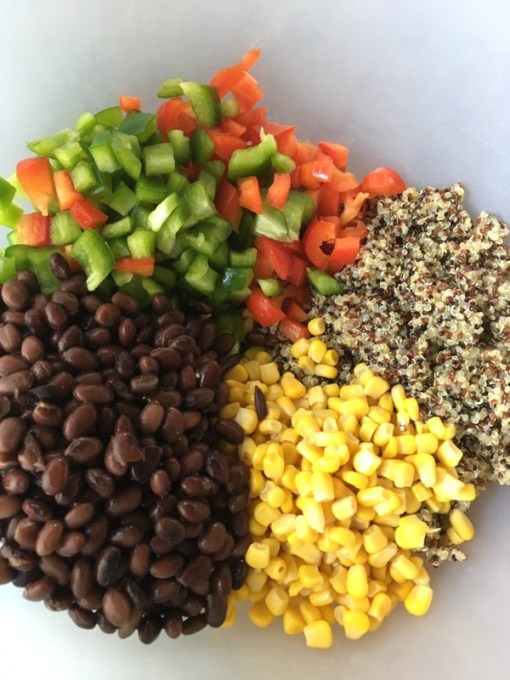 This delicious corn and black bean quinoa salad and nutritious salad can be eaten alone, as a side dish, in a wrap or in a salad with lettuce. Add chicken for some extra protein, avocado for some healthy fats or enjoy as is! #quinoasalad #saladrecipe #saladsforlunch