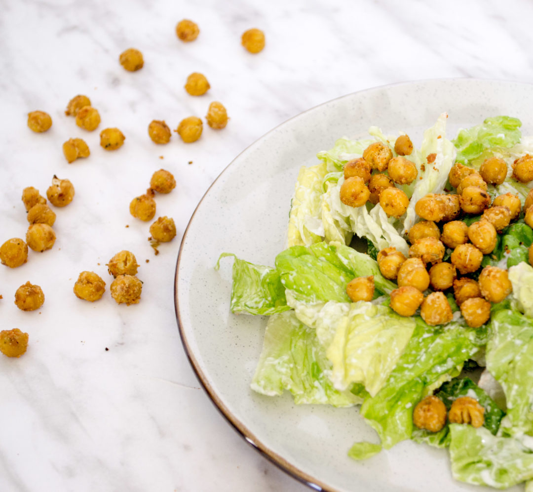 Crunchy Roasted Chickpea Croutons