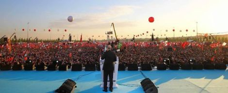 Erdogan dalam peringatan Penaklukan Konstantinopel di Istanbul, Sabtu, 30 Mei 2015-jpeg.image
