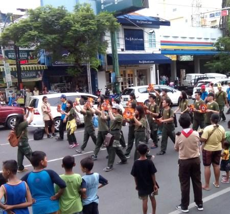 Ada Simbol Zionis Yahudi di Karnaval Paskah Semarang-2