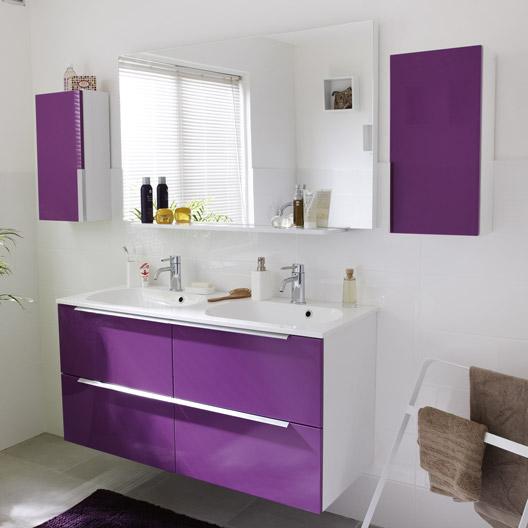 Id e d c salle de bain for Meuble salle de bain violet