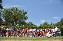 Foto familiar campamento padres hijos 2017