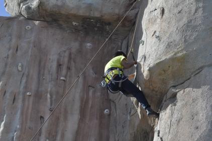 Cuarto y Quinto Escalando en el monolito de Rivas (17)