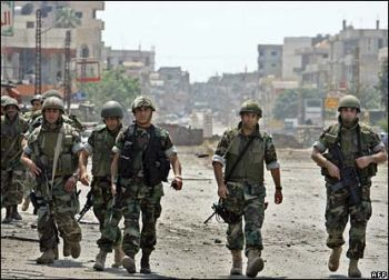 File photo of Lebanese soldiers