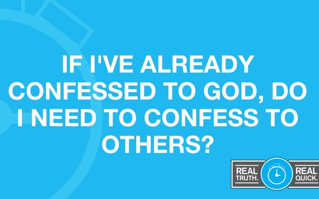 Confess your sins to a priest?