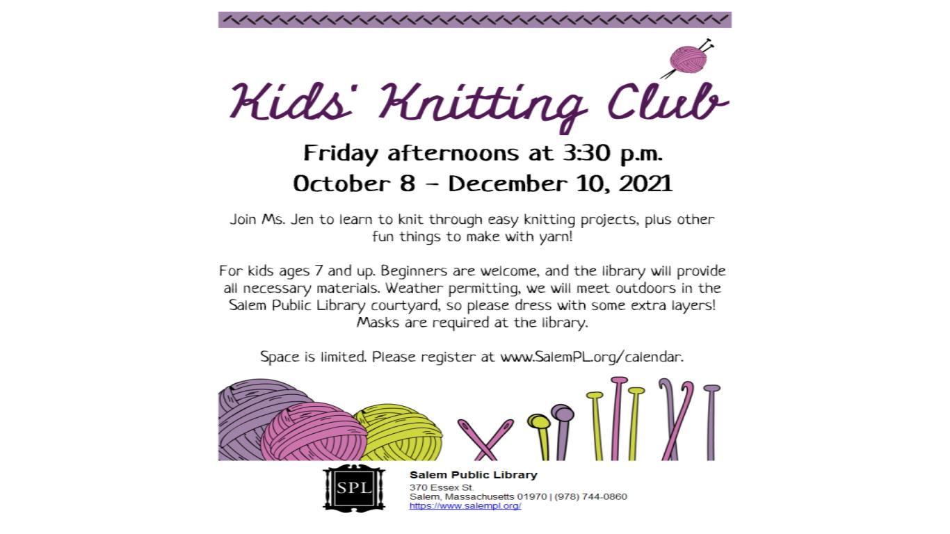 Kids Knitting Club!