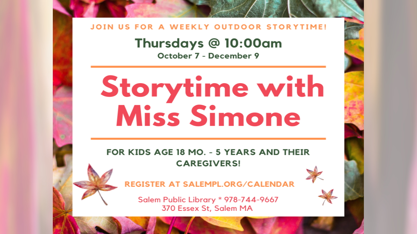 Storytime With Ms Simone!