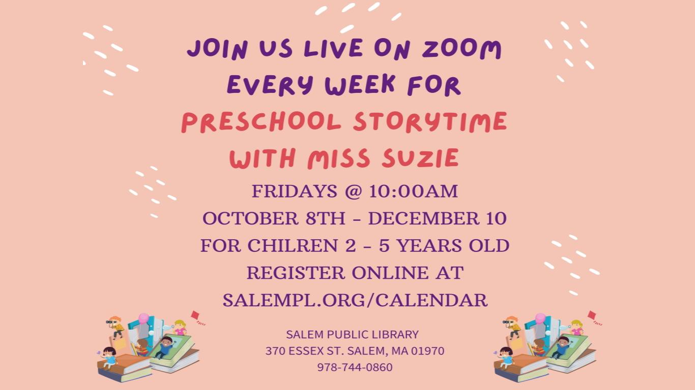 Preschool Storytime!