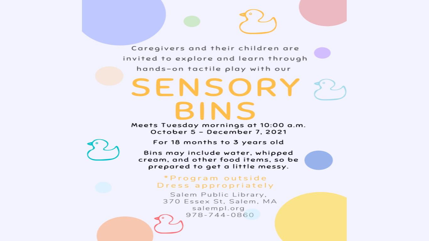 Sensory Bins!