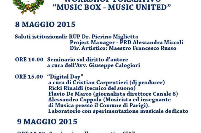 "Workshop formativo ""Music box- Music united"""