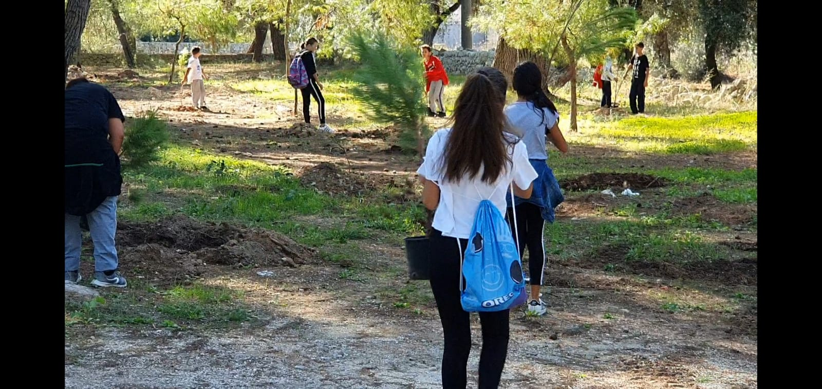 A Minervino di Lecce ieri piantati 100 alberi
