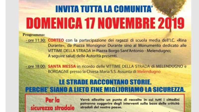 Oggi il corteo per le vittime della strada a Melendugno e Borgagne