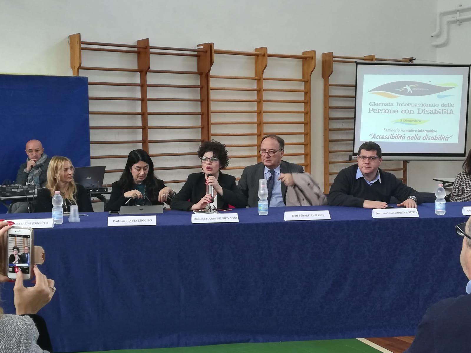Maria De Giovanni relatrice sul seminario della disabilità  a Brindisi