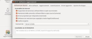 impostazioni ubuntu