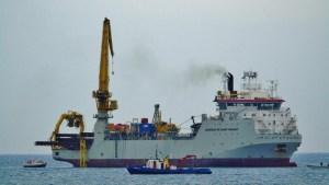 Lavori TAP in mare- nave Adhemar D/Snt Venant