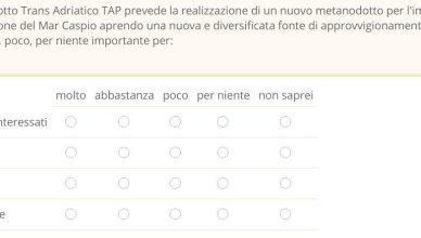 sondaggio TAP - diversificazione fonti