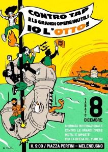 L'8 giornata internazione contro TAP e le grandi opere inutili e imposte in difesa del pianeta