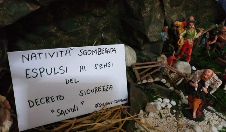 natività sgomberata decreto sicurezza salvini - Torrepaduli Arci Lecce