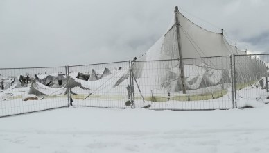 canopy tap - neve - cedimento strutturale